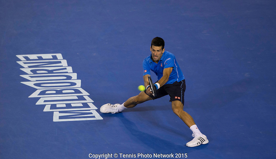 NOVAK DJOKOVIC (SRB)<br /> <br /> Tennis - Australian Open 2015 - Grand Slam -  Melbourne Park - Melbourne - Victoria - Australia  - 30 January 2015. <br /> &copy; AMN IMAGES
