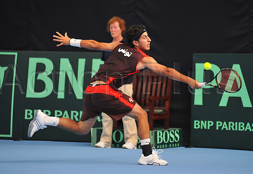 08.07.2011 Davis Cup Tennis from Dublin. Ireland v Tunisia. Anis Ghorbel, Tunisia