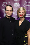 """Jordan Roth and Marianne Elliott attends The American Associates of the National Theatre's Gala celebrating Tony Kushner's """"Angels in America"""" on March 11, 2018 at the Ziegfeld Ballroom,  in New York City."""