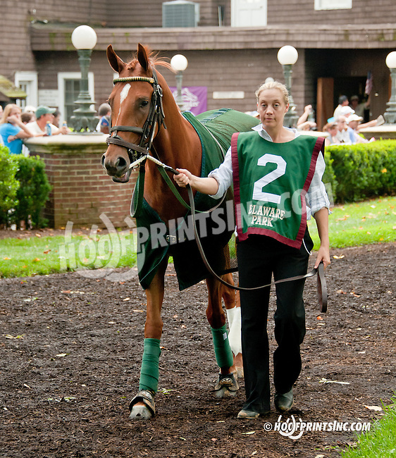 Maracuya before The Delaware Oaks (gr 2) at Delaware Park on 7/13/13
