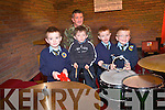 Enjoying the band of the first Southern Brigade Collins Barracks Cork performing at Muckross Church for the pupils of Loughittane National School  last Thursday..L-R Daniel Daly, Jason Murell, Joshua Griffin and Cormac Walsh.
