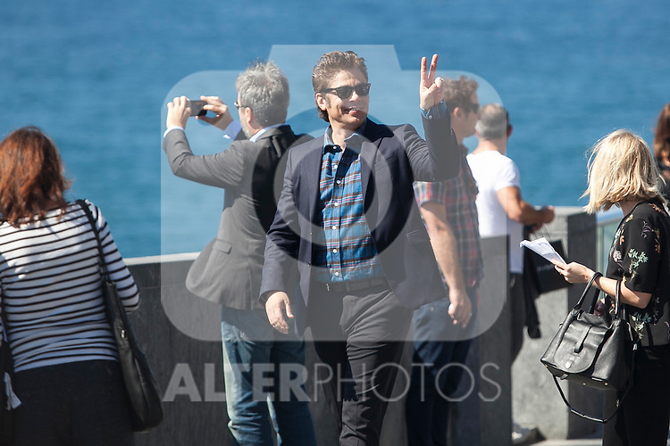 Puerto Rican actor Benicio del Toro poses during the `Sicario´ film presentation a 63rd Donostia Zinemaldia (San Sebastian International Film Festival) in San Sebastian, Spain. September 19, 2015. (ALTERPHOTOS/Victor Blanco)