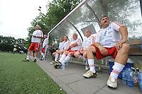 VOETBAL: JOURE: 07-07-2015, Streekteam Langweer - Tsjechisch All Star Team, met de legendarische voetballer Antonin Panenka (#9), ©foto Martin de Jong