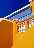 South Africa, Cape Town, Bo-Kaap, situated above the modern city (detail)