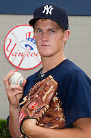 New York Yankees first round draft pick, pitcher Ty Hensley of the GCL Yankees, poses for a photo after  a game against the GCL Phillies at Steinbrenner Field on July 17, 2012 in Tampa, Florida.   GCL Phillies defeated the GCL Yankees 4-2.  (Mike Janes/Four Seam Images)