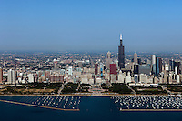 aerial photograph Grant Park, Willis Tower, Chicago, Illinois