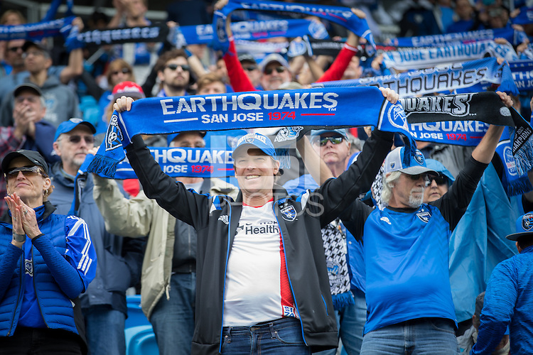 San Jose, California - March 6, 2016: The San Jose Earthquakes defeated Colorado Rapids 1-0 during the 2016 season opener at Avaya Stadium