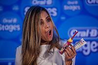 ATENCAO EDITOR FOTO EMBARGADA PARA VEICULO INTERNACIONAL - SAO PAULO, SP , 24 DE SETEMBRO 2012 - COLETIVA ORAL B - A cantora Wanessa Camargo durante apresentacao na nova linha de produtos infantis da Oral B na manha desta segunda-feira, 24 na regiao sul da capital paulista. FOTO: VANESSA CARVALHO / BRAZIL PHOTO PRESS.