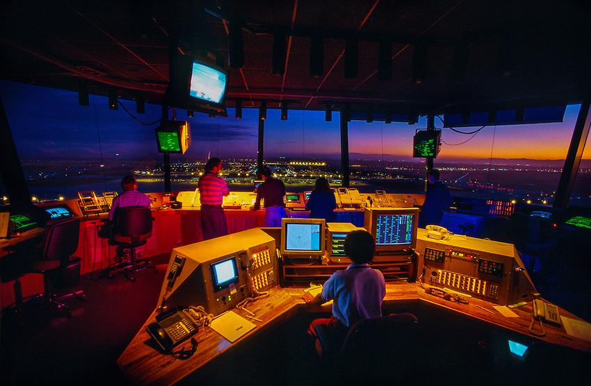 FAA Control Tower at Denver International Airport, Denver, Colorado