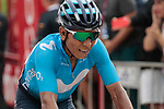 Nairo Quintana (COL) Movistar Team crosses the finish line in 4th place at the end of Stage 7 of La Vuelta 2019 running 183.2km from Onda to Mas de la Costa, Spain. 30th August 2019.<br /> Picture: Colin Flockton | Cyclefile<br /> <br /> All photos usage must carry mandatory copyright credit (© Cyclefile | Colin Flockton)