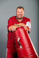 HAWGS ILLUSTRATED JASON IVESTER<br /> Head coach Bret Bielema; photographed on Sunday, Aug. 9, 2015, during UA football media day inside the Walker Pavilion in Fayetteville