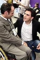 SÃO PAULO, 17 DE AGOSTO DE 2012 - CAMPANHA GABRIEL CHALITA - O candidato a Prefeitura de Sao Paulo pelo PMDB,<br /> <br /> GABRIEL CHALITA, visita a 10ª Feira Internacional de Produtos, Equipamentos, Servicos e Tecnologia para Reabilitacao, Prevencao e Inclusao, Palacio de Convencoes do Anhembi,  nessa sexta, 17 - FOTO LOLA OLIVEIRA - BRAZIL PHOTO PRESS