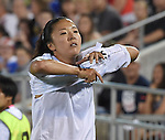 Yuki Ogimi (JPN), JUNE 2, 2016 - Football / Soccer : Yuki Ogimi of Japan leaves the pitc after being sent off during the Women's International Friendly match between United States 3-3 Japan at Dick's Sporting Goods Park in Commerce City, Colorado, United States. (Photo by AFLO)