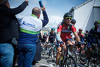 Philippe Gilbert (BEL/BMC) up the C&ocirc;te de Saint-Roche (1850m/6.3%)<br /> <br /> 101th Li&egrave;ge-Bastogne-Li&egrave;ge 2015