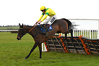 Inawhilecrocodile ridden by Aiden Coleman in The Hunts Food Service Mares' Maiden Hurdle  during Horse Racing at Wincanton Racecourse on 5th December 2019