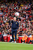 Aston Villa manager, Dean Smith seen during the Premier League match between Arsenal and Aston Villa at the Emirates Stadium, London, England on 22 September 2019. Photo by Carlton Myrie / PRiME Media Images.
