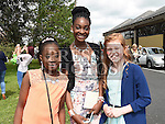 Temi and Michelle Sodiya and Shannon O'Brien who were confirmed in the Holy Family church Ballsgrove. Photo:Colin Bell/pressphotos.ie