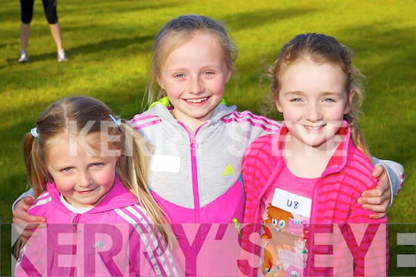Pictured at the Boherbee/Cloghers/Manor Community Games on Friday, from left: Aoife Ross, Katie Ross and Lauren Smullen..