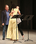 Chisa Hutchinson, Lynn Ahrens and Stephen Flaherty during the Stage Presentation of Dramatists Guild Fund Fellows  2015-2016 at Playwrights Horizons on September 19, 2016 in New York City.