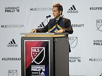 Philadelphia, PA. - January 15, 2015: MLS SuperDraftL 2015 at the Pennsylvania Convention Center.