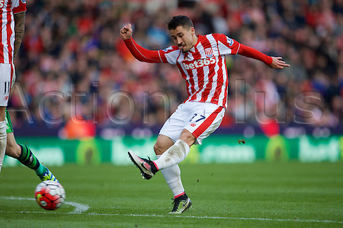 02.04.2016. Britannia Stadium, Stoke, England. Barclays Premier League. Stoke City versus Swansea City.  Stoke City forward Bojan Krkic scores the 2nd goal for Stoke.