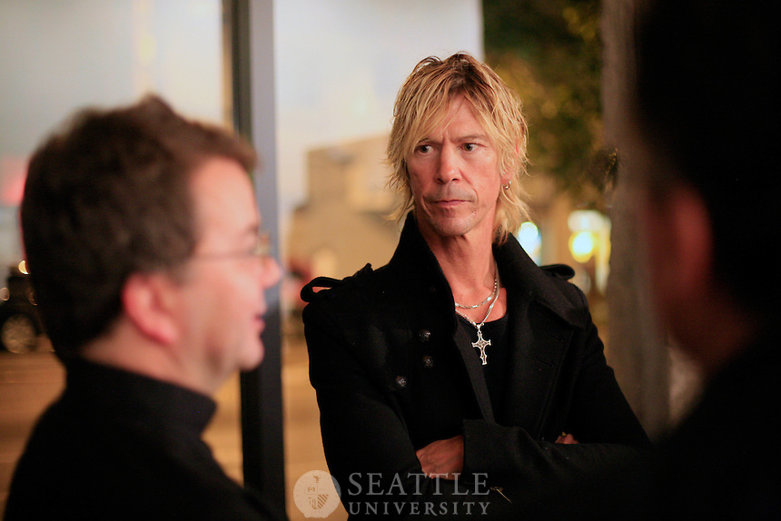 "10212011 - Seattle University, Alum Duff McKagan from Guns N' Roses, Book signing for this new book titled ""It's So Easy and Other Lies"""