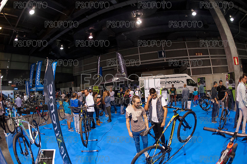 VALENCIA, SPAIN - NOVEMBER 7: Berria stand during DOS RODES at Feria Valencia on November 7, 2015 in Valencia, Spain