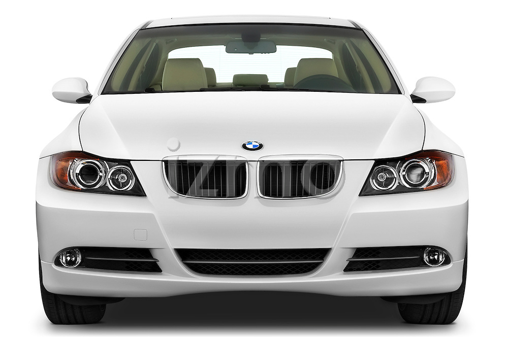 Straight front view of a 2008 BMW 3 Series 328 Sedan