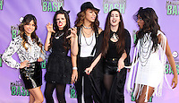 SANTA MONICA, CA - OCTOBER 20: Singers Camila Cabello, Ally Brooke, Dinah Jane Hansen, Lauren Jauregui and Normani Kordei of Fifth Harmony arrive at Hub Network's 1st Annual Halloween Bash held at Barker Hangar on October 20, 2013 in Santa Monica, California. (Photo by Xavier Collin/Celebrity Monitor)