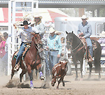 Justin DeBraga competes in the Senior Boys Breakawy Roping event at the Fallon Junior Rodeo.  Photo by Tom Smedes.