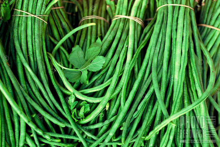 Local grown green beans, Hilo open market