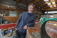 France, Bretagne, (29), Finistère, Brest:  Chantier du Guip restauration et la construction de bateaux en bois : bateaux du patrimoine, Louis Mauffret //  France, Brittany, Finistere, Brest: Guip Shipyard, building and restoration of wooden historic vessels,