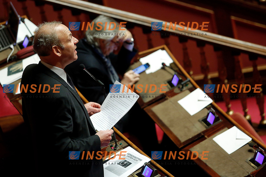 Karl Zeller<br /> Roma 07-12-2016. Senato. Voto di fiducia sulla manovra economica 2017<br /> Rome December 7th 2016. Senate. Trust vote on the economic measures for 2017<br /> Foto Samantha Zucchi Insidefoto