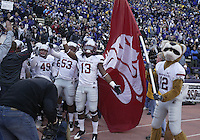 Nov 28, 2009:  Washington state players get set to run out of the tunnel against Washington.  Washington defeated Washington State 30-0 at Husky Stadium in Seattle, Washington..