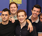 Wesley Taylor, Danny Skinner, Ethan Slater and Gavin Lee during the Rehearsal Press Preview of the New Broadway  Musical on 'SpongeBob SquarePants'  on October 11, 2017 at the Duke 42nd Street Studios in New York City.