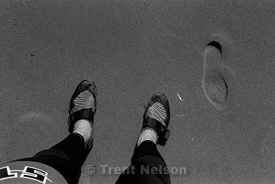 Trent feet and sand<br />