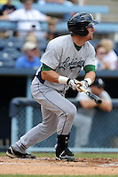 Lexington Legends designated hitter Mike Kvasnicka #7 swings at a pitch during a game against the Asheville Tourists at McCormick Field on May 6, 2012 in Asheville, North Carolina . The Tourists defeated the Legends 8-5. (Tony Farlow/Four Seam Images).