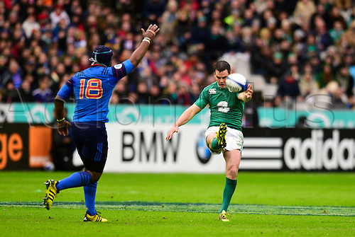 13.02.2016. Stade de France, Paris, France. 6 Nations Rugby international. France versus Ireland.  Jonathan Sexton ( Ireland ) kicks one of his 3 penalties