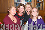 GALS NIGHT: Enjoying their party in Leen's Hotel for Women's Christmas on Saturday night were Mary Mulcahy, Ardfert, Caroline Daly, Kilcoleman, Cathleen Horan and Grainne Dennison, Abbeyfeale.   Copyright Kerry's Eye 2008