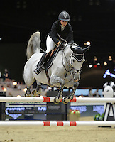Kirsten Coe (USA), riding California at the Gucci Gold Cup International Jumping competition at the 2015 Longines Masters Los Angeles at the L.A. Convention Centre.<br /> October 3, 2015  Los Angeles, CA<br /> Picture: Paul Smith / Featureflash