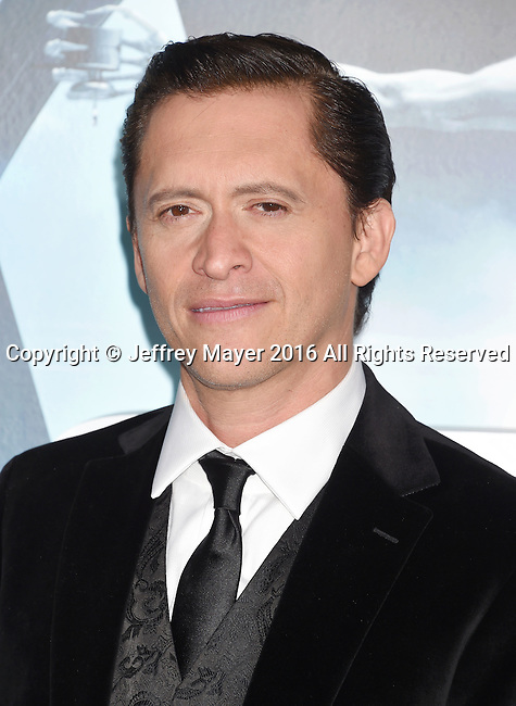 HOLLYWOOD, CA - SEPTEMBER 28: Actor Clifton Collins Jr. attends the premiere of HBO's 'Westworld' at TCL Chinese Theater on September 28, 2016 in Hollywood, California.