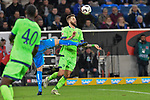 01.12.2018, wirsol Rhein-Neckar-Arena, Sinsheim, GER, 1 FBL, TSG 1899 Hoffenheim vs FC Schalke 04, <br /> <br /> DFL REGULATIONS PROHIBIT ANY USE OF PHOTOGRAPHS AS IMAGE SEQUENCES AND/OR QUASI-VIDEO.<br /> <br /> im Bild: Guido Burgstaller (FC Schalke 04 #19) gegen Ermin Bicakcic (TSG Hoffenheim #4)<br /> <br /> Foto &copy; nordphoto / Fabisch
