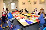 the Valentine's Day Heart Art Workshop at the Droichead Arts Centre. Photo: Andy Spearman.