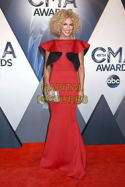 4 November 2015 - Nashville, Tennessee - Kimberly Schlapman, Little Big Town. 49th CMA Awards, Country Music's Biggest Night, held at Bridgestone Arena. <br /> CAP/ADM/LF<br /> &copy;LF/ADM/Capital Pictures