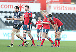 A dejected Billy Holland at the final whistle after Munster lose heavily to Ospreys.<br /> Guiness Pro12<br /> Ospreys v Munster<br /> Liberty Stadium<br /> 07.03.15<br /> &copy;Steve Pope - SPORTINGWALES