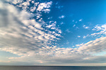 Clouds and sea looking North from Halibut Point, Rockport, MA.