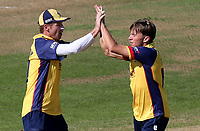 Aaron Beard of Essex celebrates taking the wicket of James Vince during Hampshire vs Essex Eagles, Vitality Blast T20 Cricket at the Ageas Bowl on 25th August 2019
