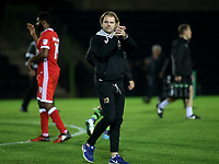 MK Dons Manager, Robbie Neilson, applauds the away fans at the end of the match during Forest Green Rovers vs MK Dons, Caraboa Cup Football at The New Lawn on 8th August 2017