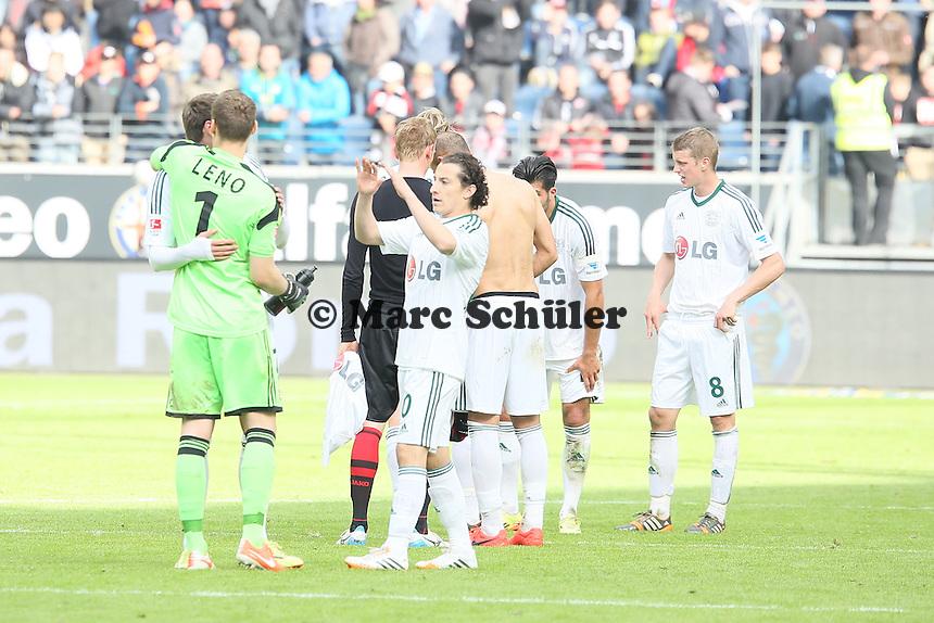 Schlussjubel Leverkusen - Eintracht Frankfurt vs. Bayer Leverkusen, Commerzbank Arena