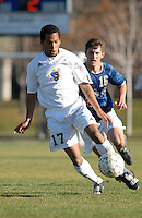 Division II college men's soccer action - Fort Lewis College v Regis University, October, 2007.